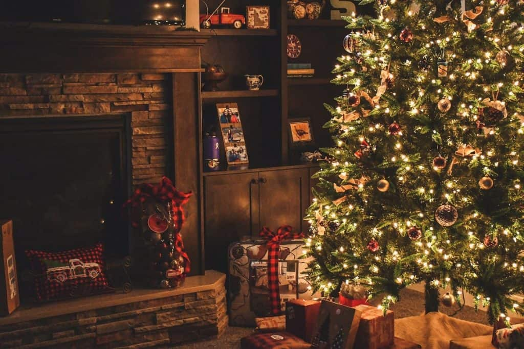 christmas tree in house